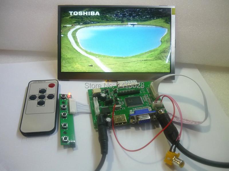 HDMI + 2 av + VGA 7 inch LCD panel 1024 * 600 Raspberry pie LCD screen display DIY kits(China (Mainland))
