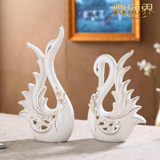 muebles expositores de ceramica cisne de cer mica adornos peque os adornos de entrada bar