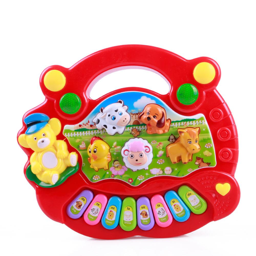 New Useful Baby Kid Musical Educational Animal Farm Piano Music Toy Developmental #32850(China (Mainland))
