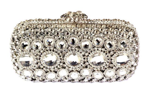 Luxury Beaded Rhinestone Clutch Bags Party Prom Purse Designer Evening Bags Womens Chain Handbags Luxury Ladies Bags B231#