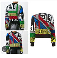 High Quality 2016 Autumn And Winter Fashion Novelty Coat Geometric Print Hoodies Women Long Sleeved Casual