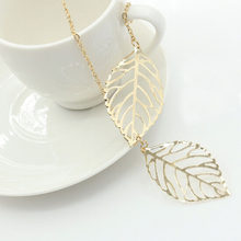 مزدوجة يترك عُقد ذهبي بدلاية الفضة اللون سلسلة قصيرة تصل إلى عظمة الترقوة الجوف ليف سحر بيان المختنق النساء مجوهرات اكسسوارات(China)