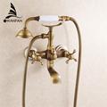 New arrival Rain Shower Faucets with ceramic Mixer Tap Antique Brass Bath Shower Faucet Set bathtub