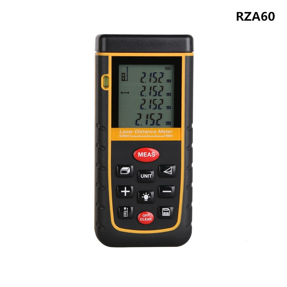 RZA60 Professional 60M(192ft) Measure Laser Distance Meter Level Bubble Rangefinder Tool IP54(Dust/Splash Proof) Laser Class II(China (Mainland))