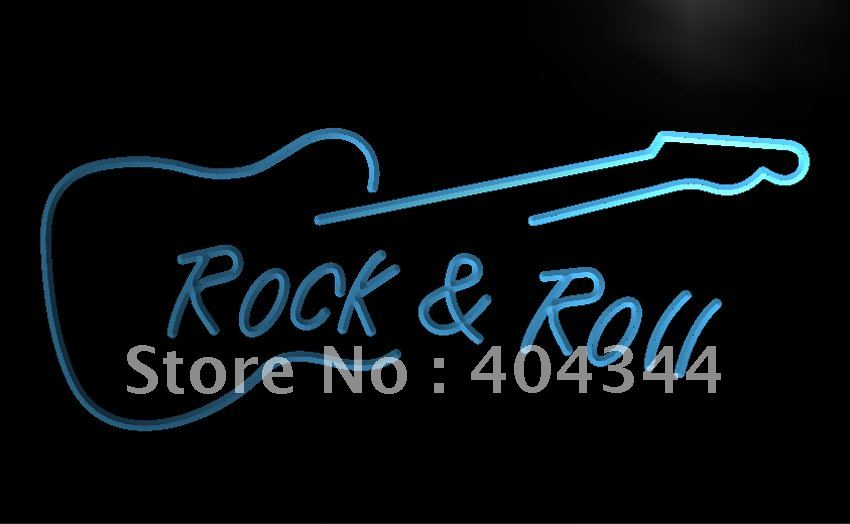 LB303- Rock and Roll Guitar Music NEW LED Neon Light Sign home decor crafts(China (Mainland))