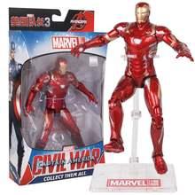 27 centímetros Avengers Figura Brinquedos Quente Homem De Ferro Figura de Ação Anime Figura Sexy Wanda Maximoff Brinquedos Capitão América Ação Falcon figura(China)