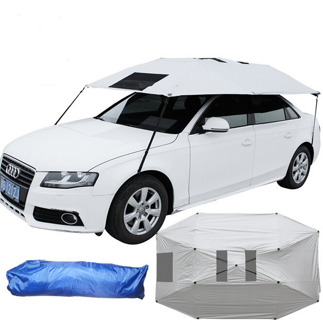 Automotive Semi-automatic Sunshade Cover Outdoor Car UV Sunscreen Umbrella Sun Shield Cover Summer Car Umbrellas Auto Supplies