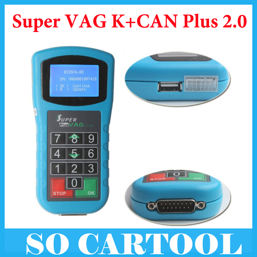 2016 High Quality Super VAG K+CAN Plus 2.0 Mileage Correction Tool by DHL Free Shipping(China (Mainland))
