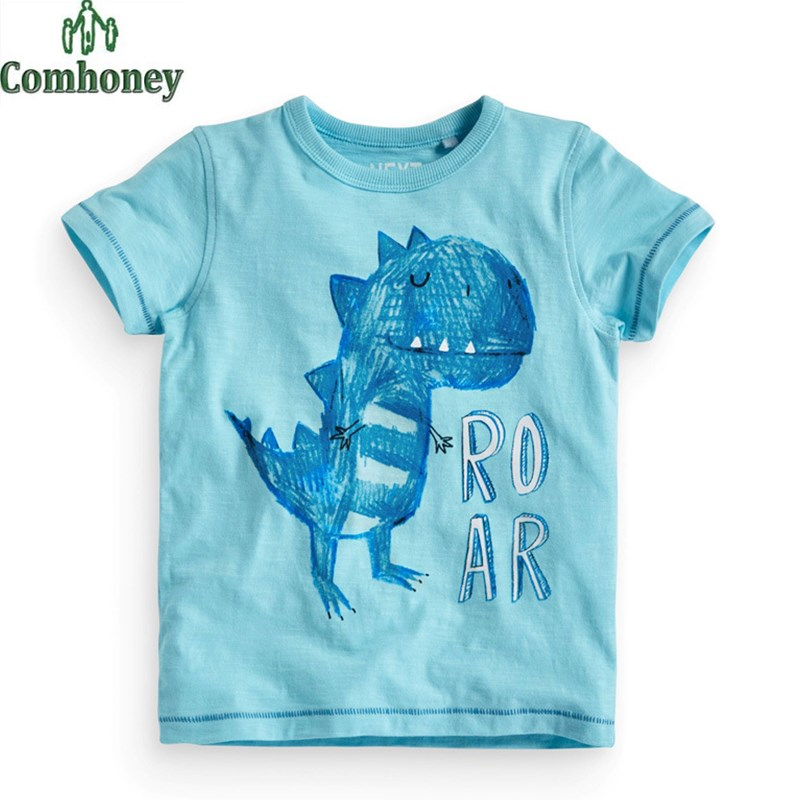 Dinosaur T-shirt Baby T Shirt Summer Infant Short Sleeve Funny T-shirt Baby Tops Tee Kids Clothes T-shirts For Girls Boys(China (Mainland))