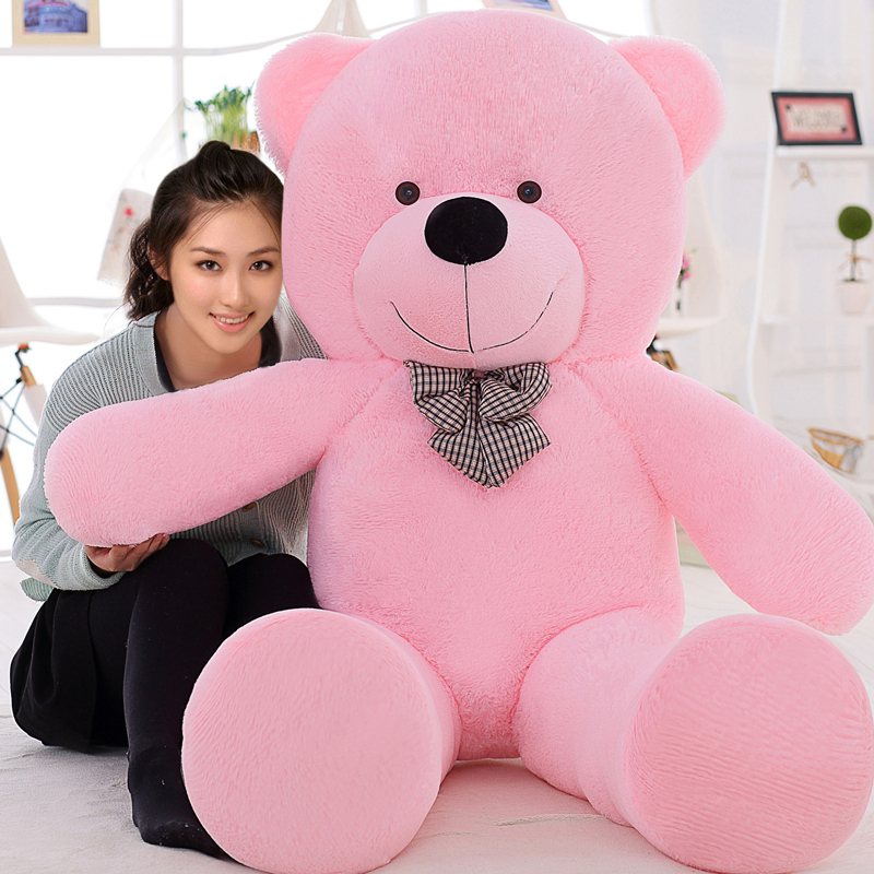 200CM 78'' inches huge giant teddy bear animals plush stuffed toys life size kid children dolls girls toy gift 2016 New arrival(China (Mainland))