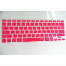 (10pcs) Ultra-thin Cute Dark Pink Hello Kitty Silicone Keyboard Cover Skin Protector for for Apple MacBook Air Pro 13 15 17