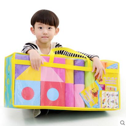 Child big foam blocks eva foam blocks fancy toy extra large assembling educational toys 50pcs 5cm thickness(China (Mainland))