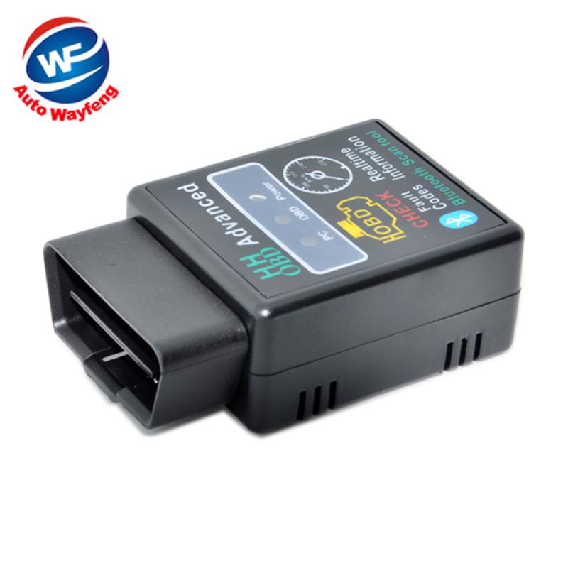 Mini ELM327 V2.1 Bluetooth HH OBD Advanced OBDII OBD2 ELM 327 Auto Car Diagnostic Scanner code reader scan tool hot selling(China (Mainland))