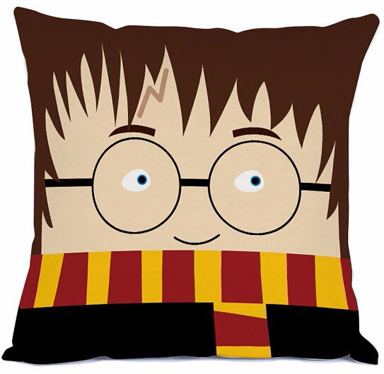 Wholesale Customized Harry Potter Cartoon Style High Quality Throw Pillowcase Square Zippered Unique Funny Pillow Sham(China (Mainland))