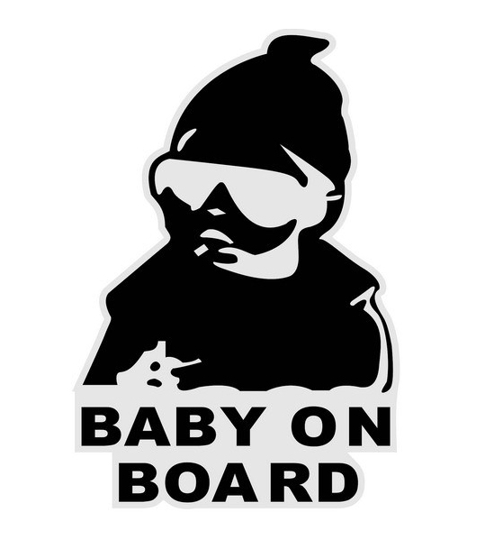 Solid Mai Chao child babyonboard warning car stickers cool baby bumper sticker(China (Mainland))