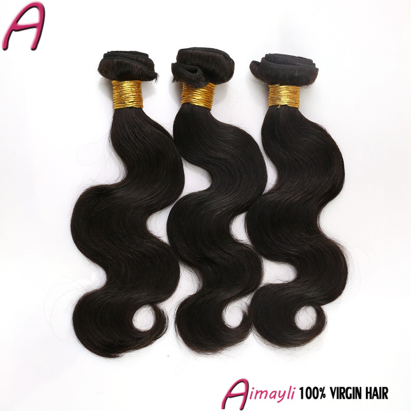 6a unprocessed Brazilian virgin hair body wave 4 bundles natural 1B 100 human hair weave brands new star virgin brazilian hair