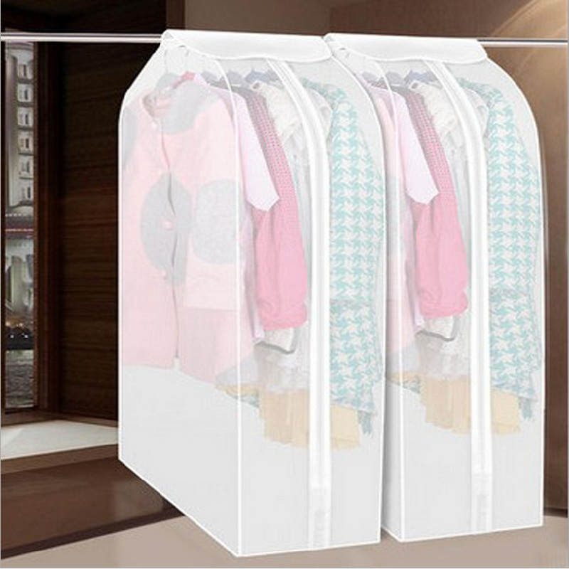 Dust Damp Proof Cover Protector Bag Case Orangizer for Closet Wardrobe Storage of Garment Sweater Fur Cloth hanging organizers(China (Mainland))