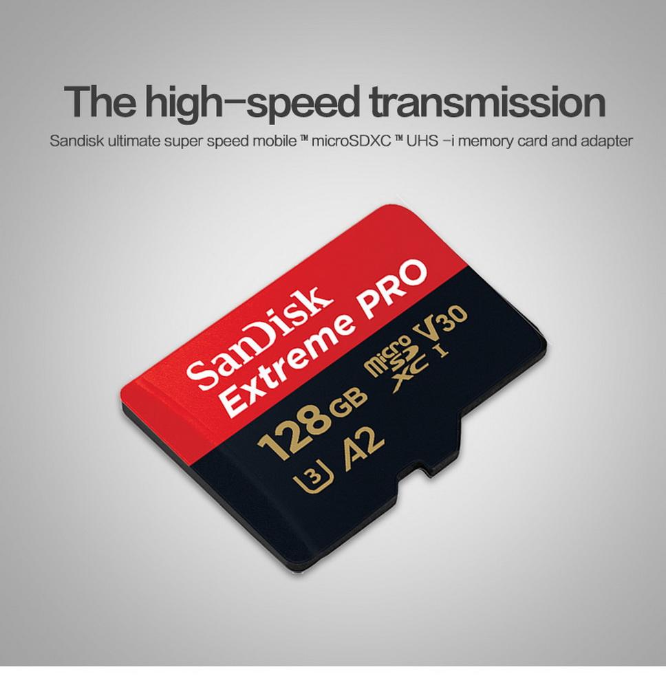 Tarjeta de memoria SanDisk Extreme Pro microsdxc 128gb 170mb//s v30 a2