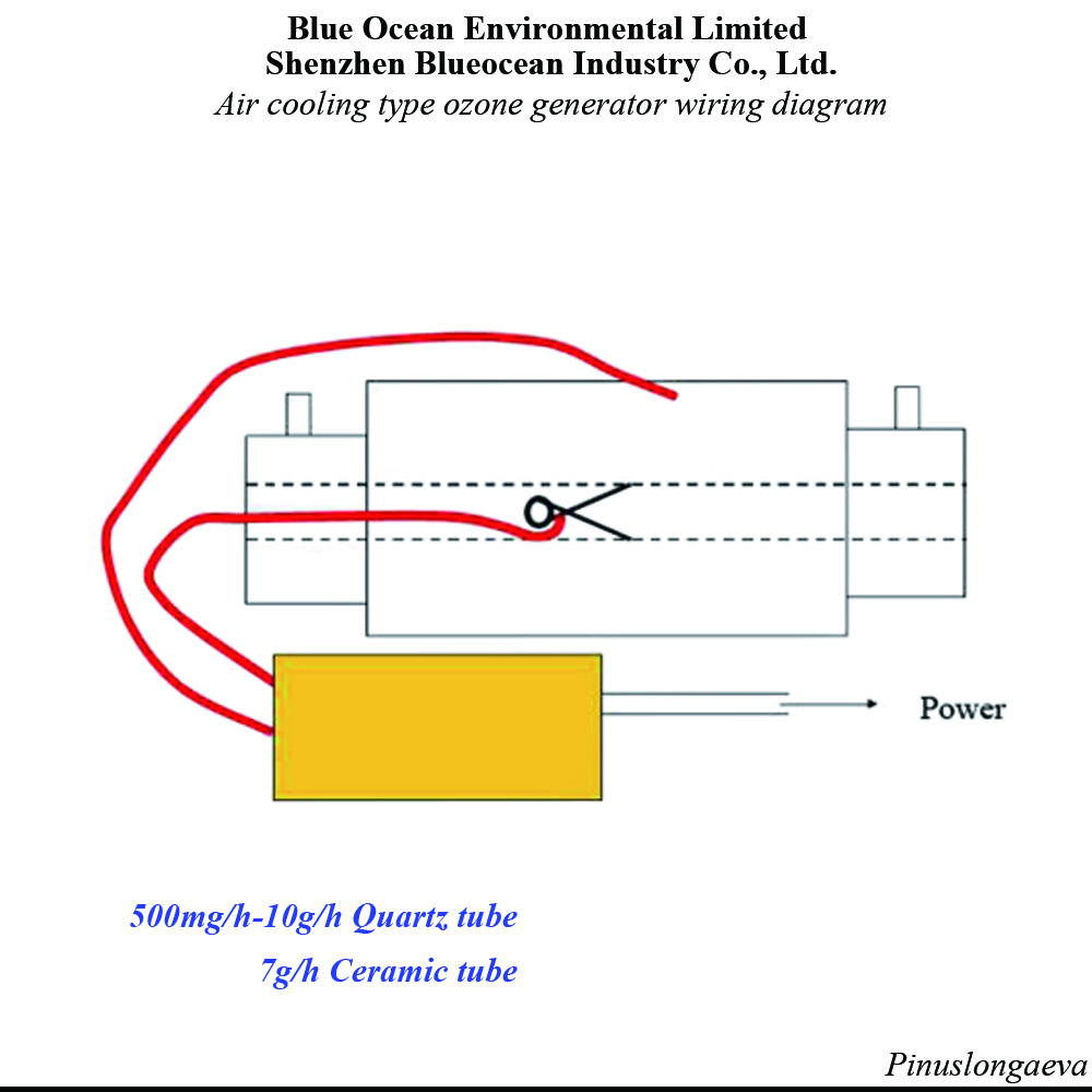Pinuslongaeva 10g H 10grams Adjustable Quartz Tube Type Ozone Generator Kit Ozone Air Purifier Home Ozone Generator Water Air