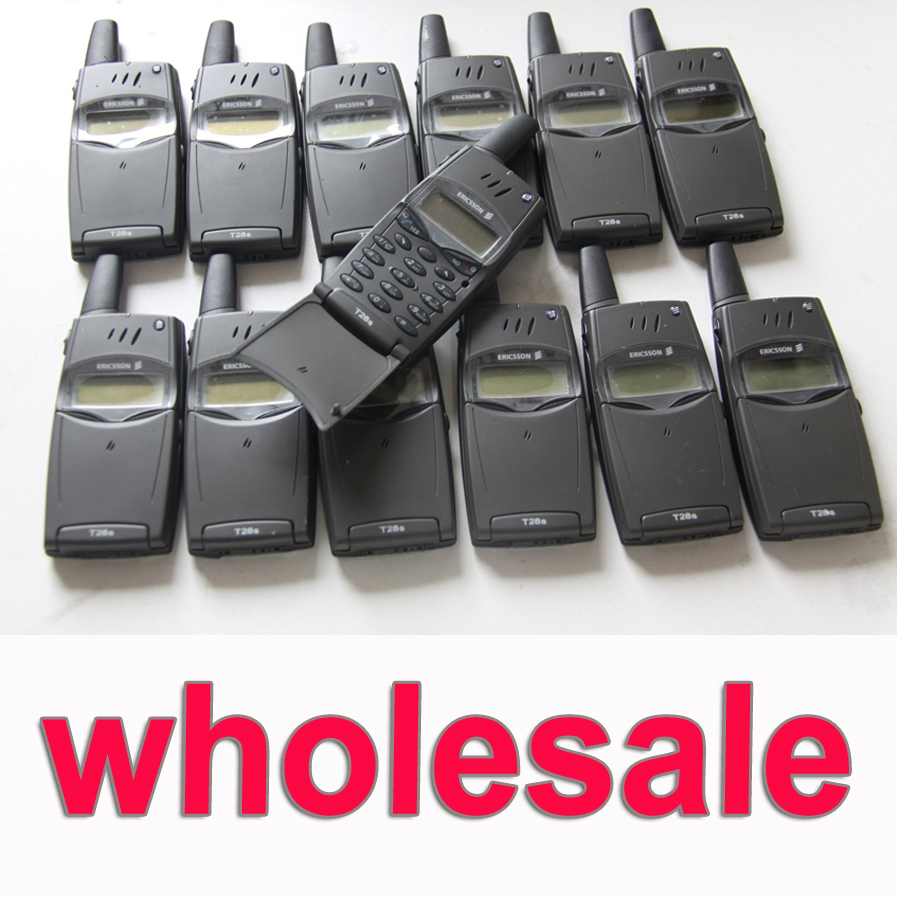 Wholsale 10pcs/Lot Original Ericsson T28 T28s Mobile Phone 2G GSM 900/1800 Unlocked T28sc Old Phone(China (Mainland))