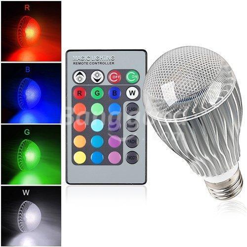 New arrival LED RGB lamp 1pcs/lot 9W 15W E27 RGB LED Bulb 85-265V with Remote Control multiple colour led lighting(China (Mainland))