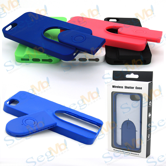 2 1 Selfie Wireless Bluetooth Remote Camera Cellphone Cover Case Retail Box iPhone 5 5S - SegMoi Techology Co,.Ltd store