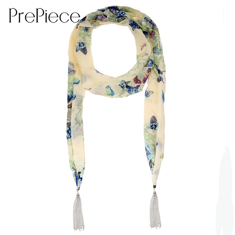 PrePiece Polyester Floral Print Scarves with Tassel Head Band Scarf Necklace 2016 New Ethnic Jewelry for Women Echarpe PSN0101(China (Mainland))