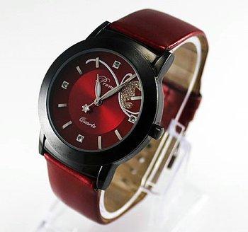 High Quality+ Free Shipping! 1 PC New Red Luxury and Prettly Women Lady Quartz Wrist Watch, BGL