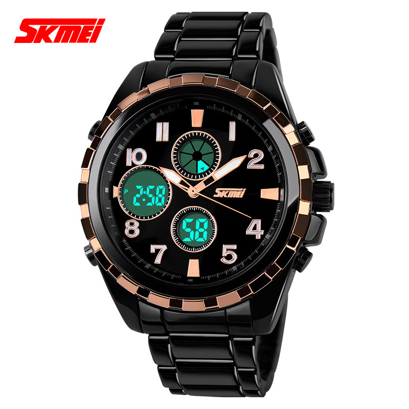SKEMI original men sports military watch 5ATM shock R dual ...