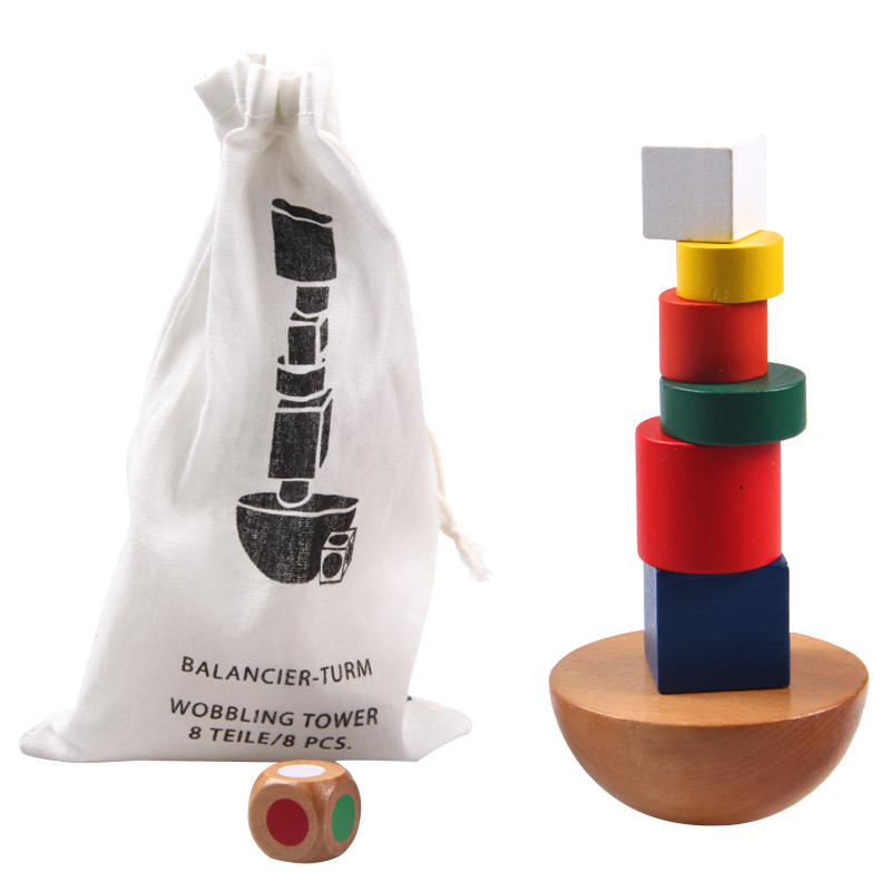 Kids Toys Geometric Blocks Balancing Game Toy Canvas Bag Small Size Educational Toys For Children Family Game Montessori(China (Mainland))