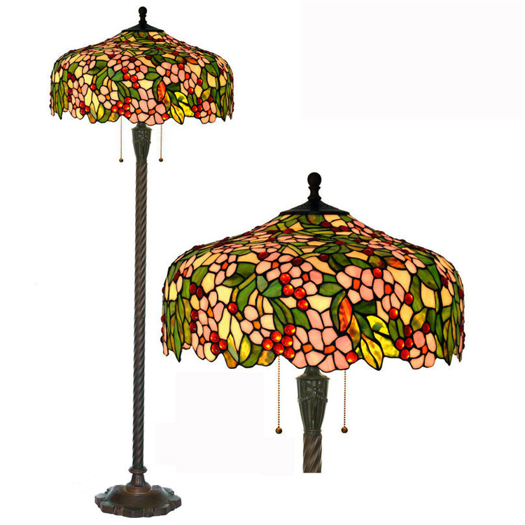 20 inch new Floor Lamp European rural American country living room lamp Apple blossoms YSLFR51,Free Shipping(China (Mainland))