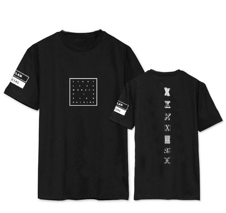 Kpop monsta x concert printing o neck short sleeve t shirt fans supportive summer tee plus size o neck t-shirt
