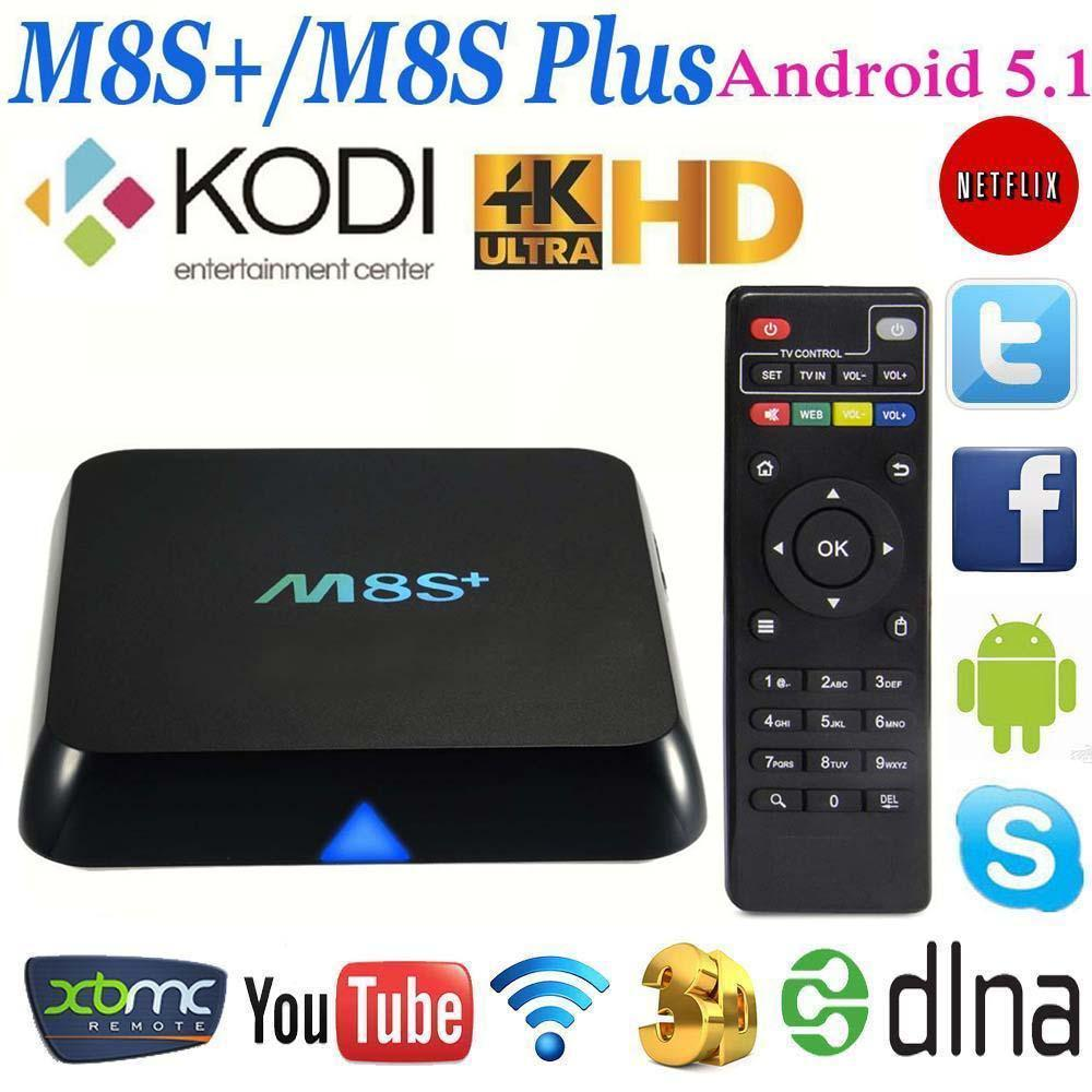 M8S+ / M8S Plus Quad Core Android 5.1 Smart TV BOX Kodi Fully Loaded Wifi UK tv media player air keyboard APE<br><br>Aliexpress
