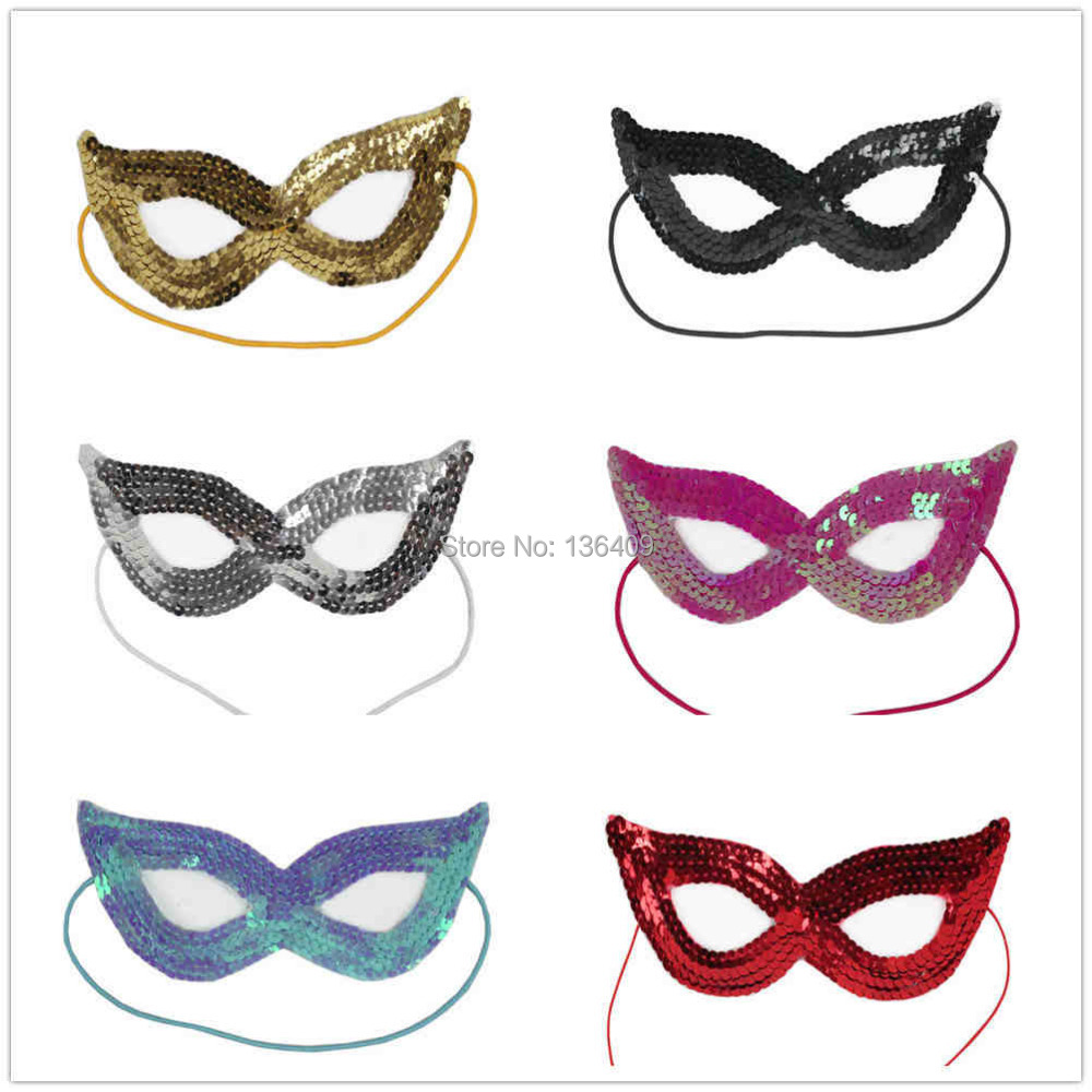 10 pcs- Masquerade Mask Halloween Party Supplies Performing Sequined - Goggles Doudou's World store
