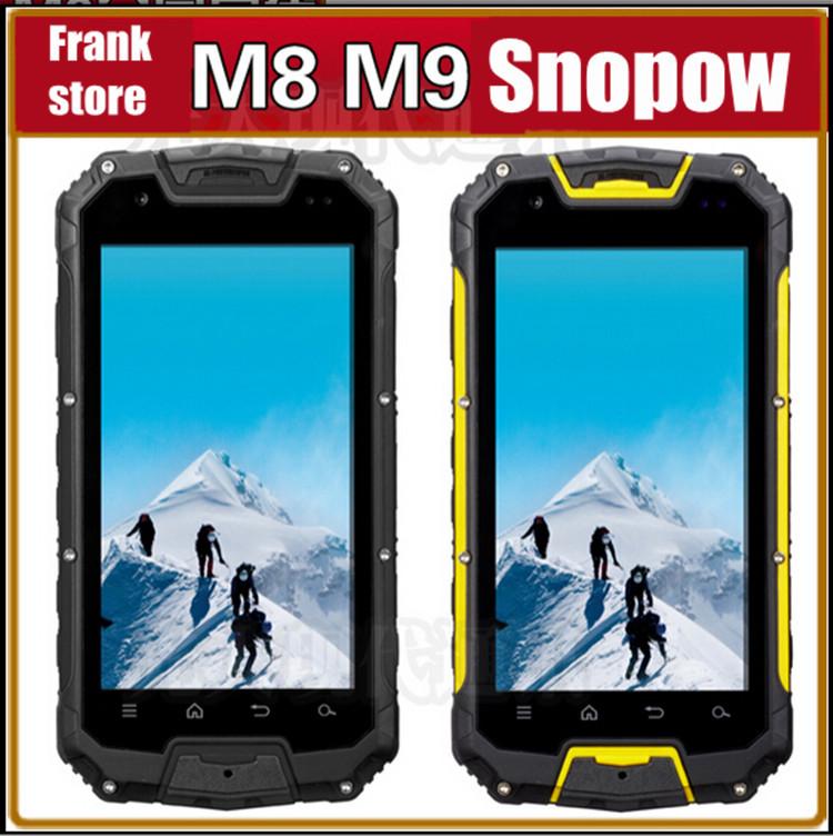 "Gift Bag!Original Snopow M8 M9 IP68 Smartphone PTT Walkie Talkie 4.5"" Android MTK6589 M8 Quad Core phone GPS 3G 4700mAH Battery(China (Mainland))"