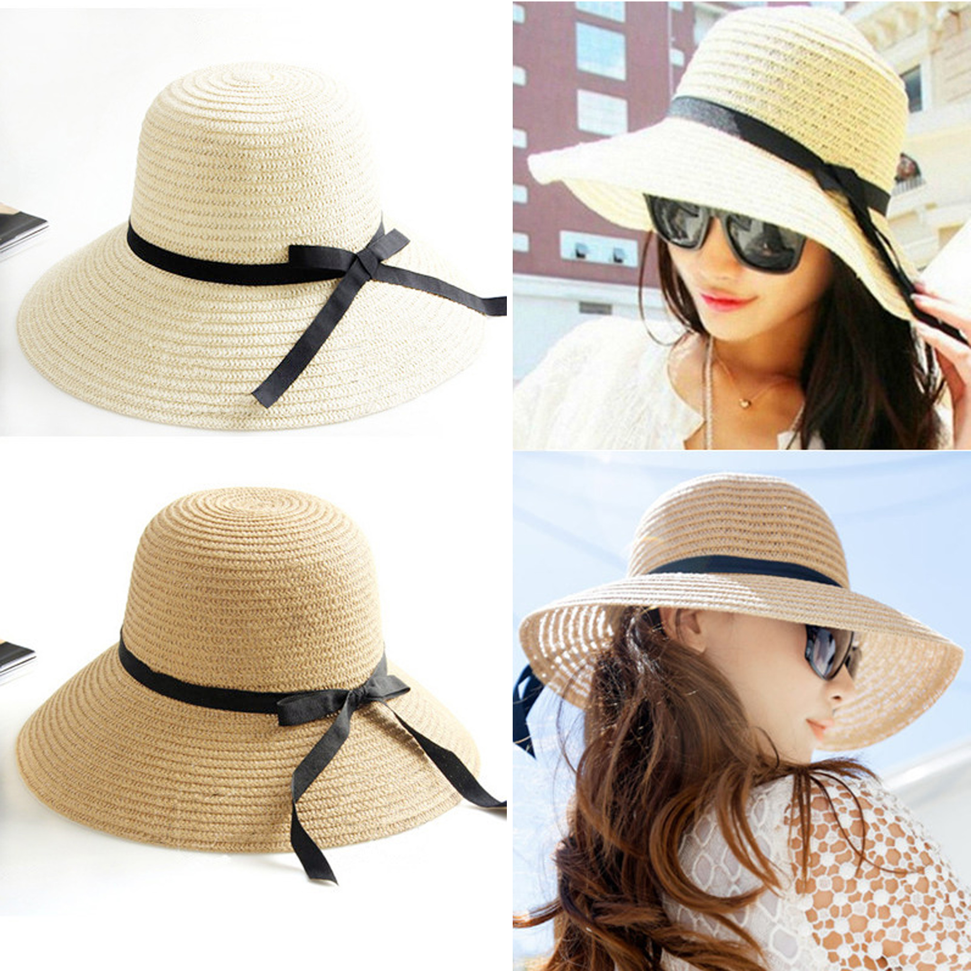 new fashion sun hat s summer foldable straw hats for