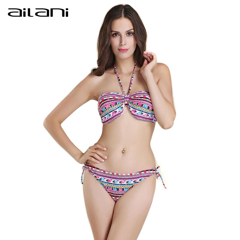 Summer Sexy Women Halter Bikinis New Fashion Female Beachwear Floral Swimwear Top S-XXL Striped Bathing Suit For Women AL200(China (Mainland))