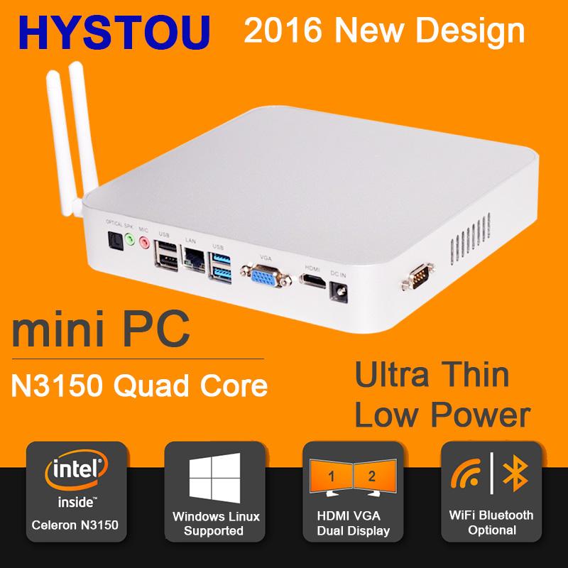 Intel Celeron N3150 Mini PC Linux HTPC OpenELEC Support 4K HD Minipc Fanless Micro Computer WiFi&Bluetooth Mini PC Com Windows(China (Mainland))