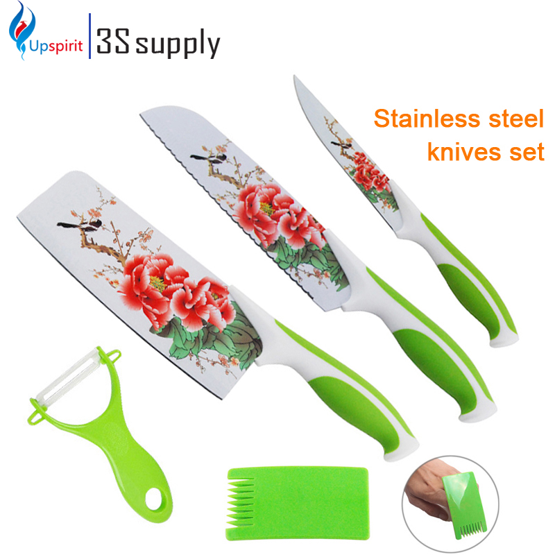 Chinese Style 5 Pcs Kitchen Knife Set Kitchen Stainless