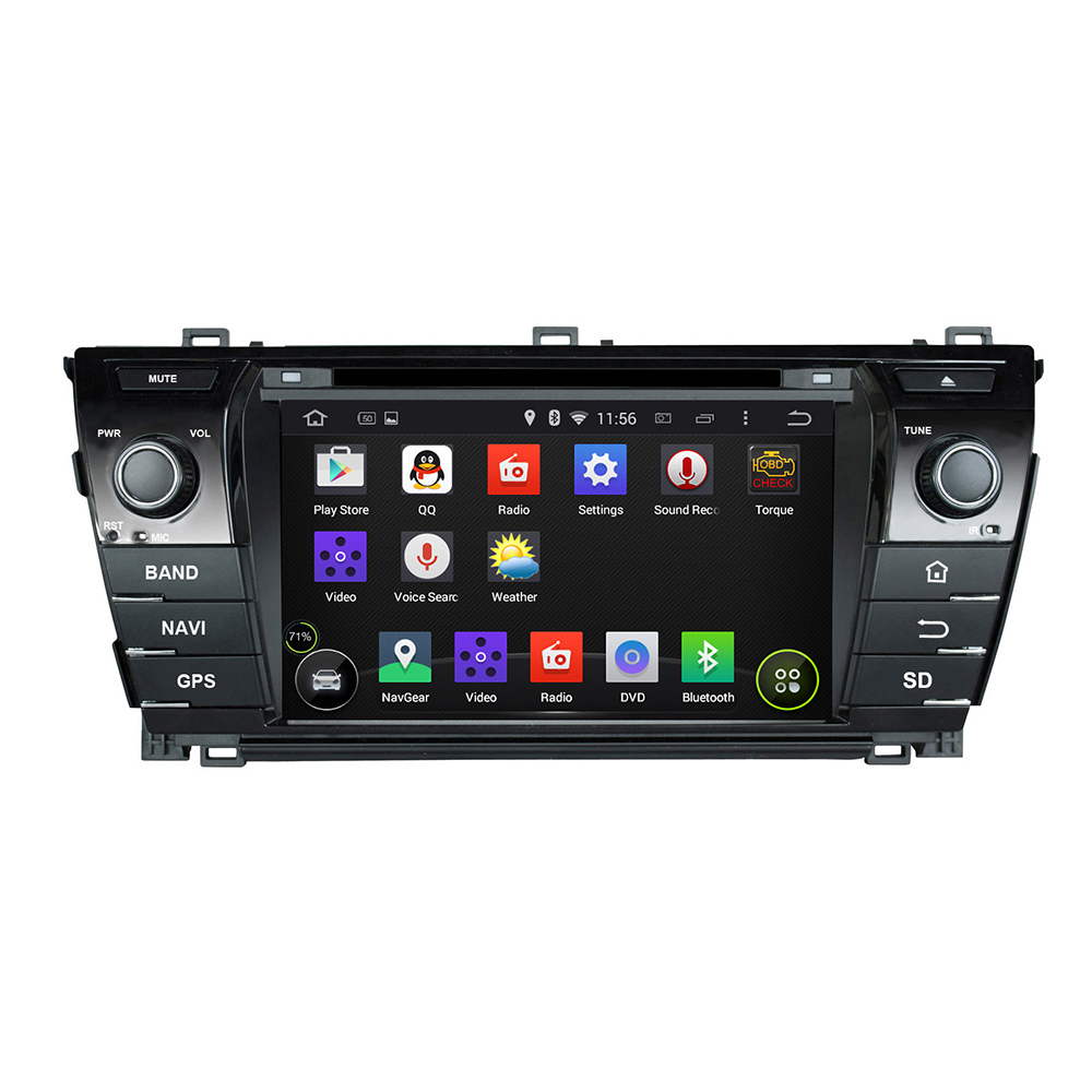 Car PC Audio Radio DVD Android 5.1.1 GPS WiFi DVR BT AUX IN For TOYOTA COROLLA 2014(China (Mainland))