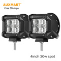Auxmart 5D cree chips 4 30W LED light bar spot beam offroad driving work light for