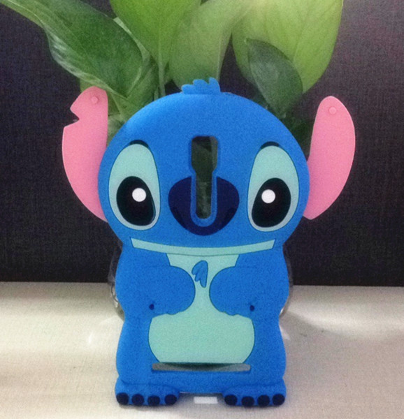 Phone Cases Asus Zenfone 2 (5.5 inch) Case ZE551ML ZE550ML Cartoon Blue Stitch Soft Silicone Back Cover  -  Mobile and Retail Center store