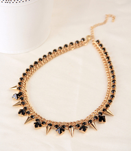 The new black crystal necklace chain rivets #N029(China (Mainland))