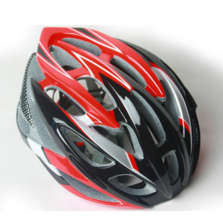 men woman 53-62cm bicycle helmet adjustable pro mtb cycling race head gear protector road bike parts accessories white red - Loading... Battle Frontier store