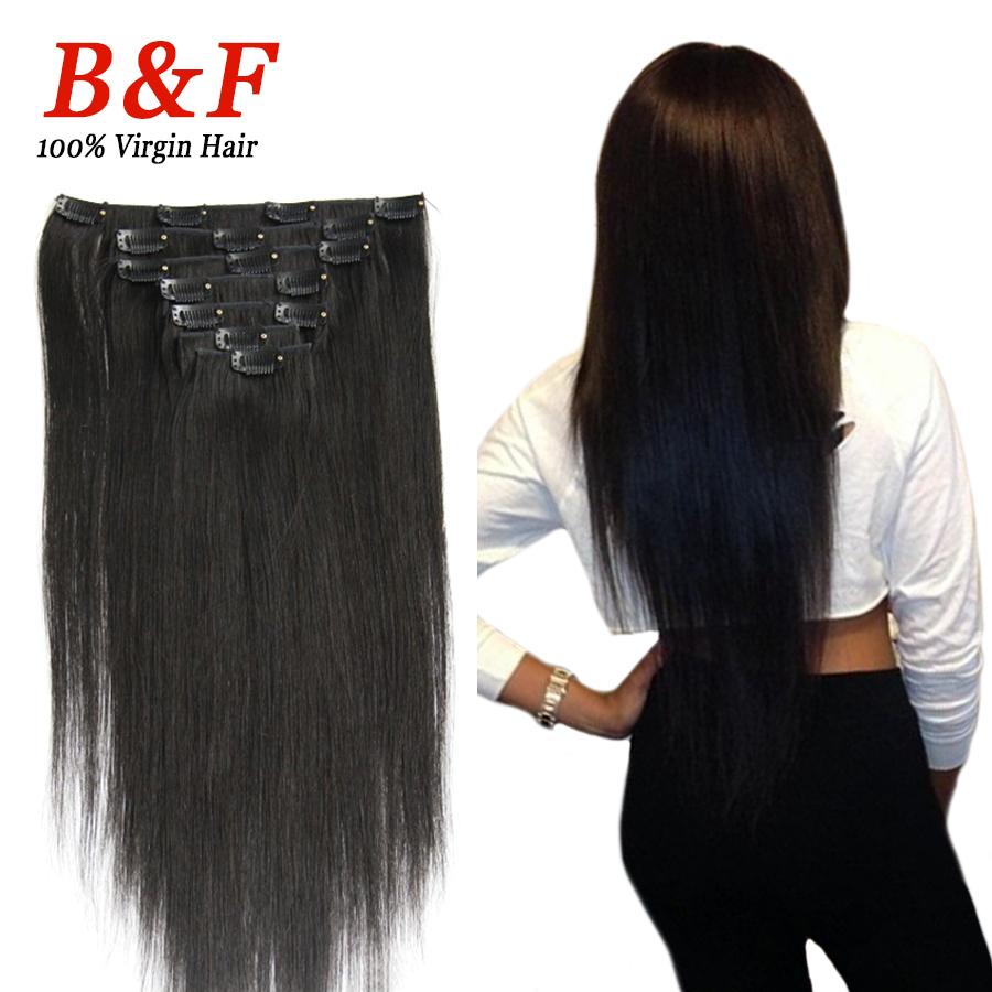 7pcs/set human hair clip in extensions 100g clip in hair extensions 18-24 inch clip in human hair extensions(China (Mainland))