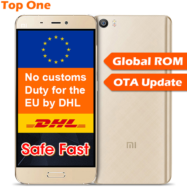 "Original Xiaomi Mi5 M5 Mobile Phone Snapdragon 820 5.15"" 1920x1080 16MP OIS Camera Fingerprint ID NFC Quick Charge FDD LTE"