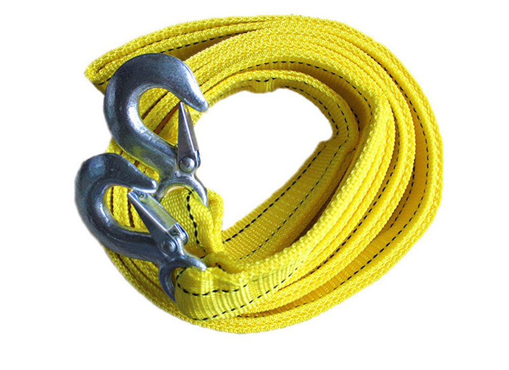 4M 5 Tons Car Tow Rope Thicker Cable Towing Strap with Steel Hooks Emergency Heavy Duty(China (Mainland))