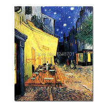 Buy Cafe Terrace Night Vincent van Gogh Reproduction painting oil painting canvas for $30.60 in AliExpress store