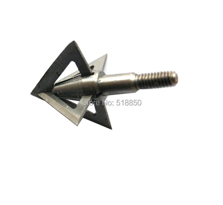 100 Grain 12pcs new Cut Diameter 2mm steel force phat arrow broadheads with 4 blades