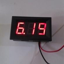 FREE SHIPPING  3.0-30V (OR 4.5-30V )  DC Car Motor Red LED Digital Voltmeter   Volt Voltage Panel Meter